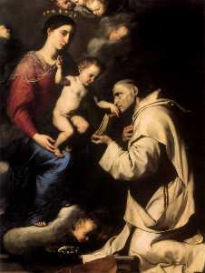 Virgin and Child with St. Bruno