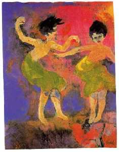 Dancing Women (with Green Skirts)