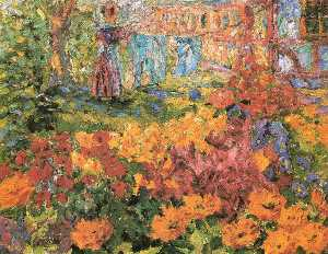Flower Garden (Girl and Washing)