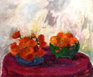 Still Life (orange and yellow flowers)