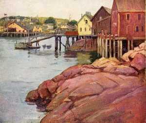 Dock Sheds at Low Tide