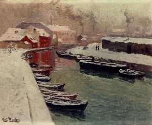 A Snowy Harbor View