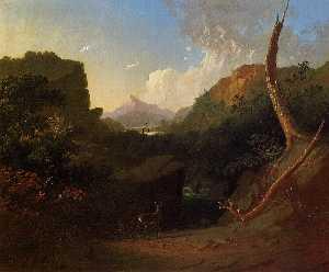 Deer in a Stormy Landscape
