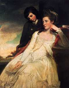Jane Maxwell, Duchess Of Gordon And Her Son The Marquis Of Huntly