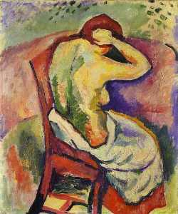 Nude Woman Seated, back