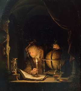 The Astronomer by Candlelight