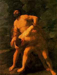 Hercules Wrestling with Achelous