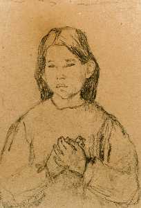 Half Length of a Girl with clasped Hands