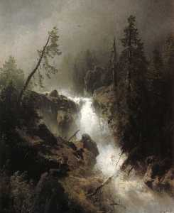 Cascade with a Fisherman