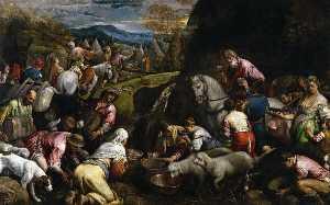 The Israelites drink the miraculous water