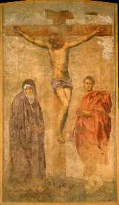 Crucifixion with the virgin and St. John