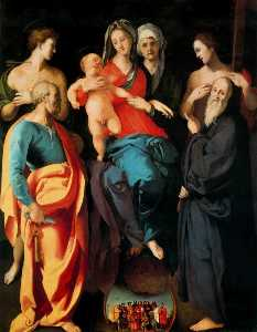 Madonna and Child with St. Anne and the Saints, Sebastian, Peter, Benedict