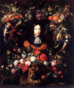 Garland of Flowers and Fruit with the Portrait of Prince William III of Orange