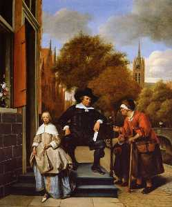 The Burgher of Delft and His Daughter