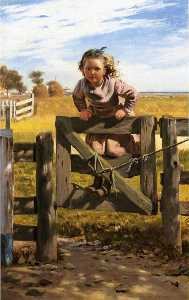 Swinging on a Gate, Southampson, New York