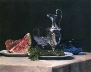 Still Life, Study of Silver, Glass and Fruit