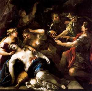 The Oath of Brutus against Tarquin the death of Lucrecia