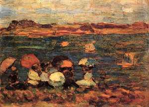 Beach Scene, St. Malo