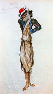 Slave disguised as a sailor, costume for the Ballet ''Port Said''