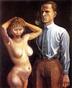 Self-portrait with Nude Model