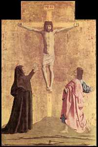 Polyptych of the Misericordia. Crucifixion