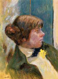 Study for Profile of a Woman in a Bow Tie