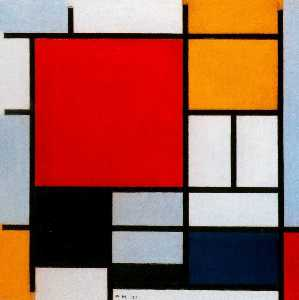 Composition with Red. Yellow and Blue 1