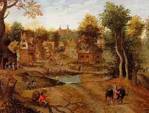 Village Landscape with Ammaus Pilgrims