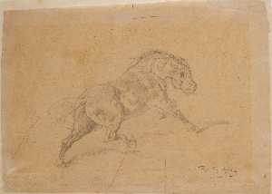 Study of Horse for Le duel