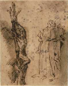 Studies for the Crucifixion of Polycrates 1