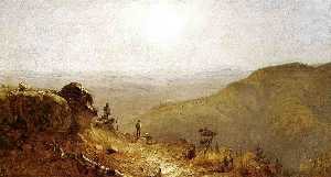 Study for The View from South Mountain, in the Catskills''''