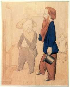 Ford Madox Brown being patronised by Holman Hunt