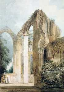 Interior of Fountains Abbey. the East Window
