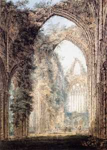 Interior of Tintern Abbey looking toward the West Window