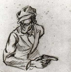 Gangster (Study for The Arts of Life in America)