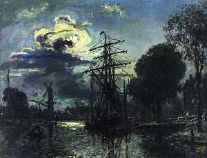 Canal in the Moonlight