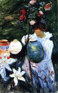 Carnation, Lily, Lily, Rose (study)