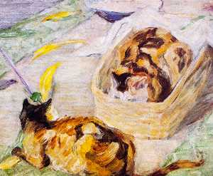 Cat Basket (also known as Study of Cats III)