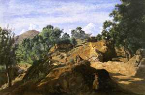 A Chestnut Wood among the Rocks