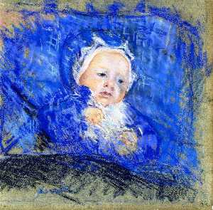 Child on a Blue Cushion