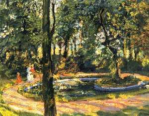 Children by the Pond - The Garden in Godramstein