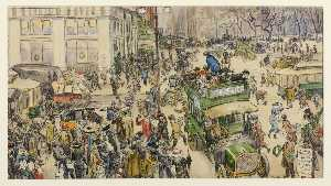 Christmas Shoppers, Madison Square (also known as Fifth Avenue Shoppers)