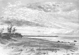 Coast of a sea, Mery-Hovy