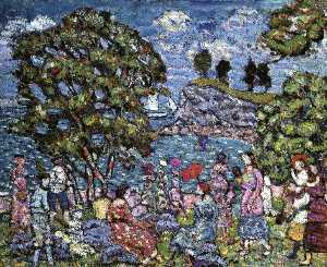 Cove with Figures