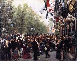 Departure of King William I for the Army, 31 July 1870