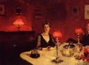 A Dinner Table at Night (also known as Mr. and Mrs. Albert Vickers)