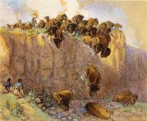 Driving Buffalo Over the Cliff
