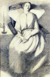 Elizabeth Siddal Seated in a Chair
