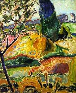 Fauve Landscape (also known as Landscape near Oberstdorf - Autumn)