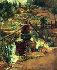 The Fountain in Our Garden at Nikko